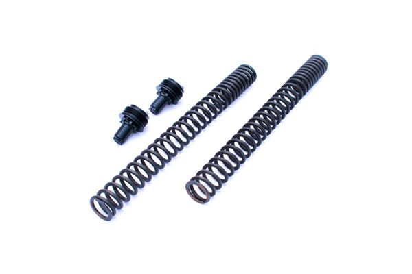 MT07 / XSR700 / Tracer700 - Front Fork upgrade kit - Progressive Springs  and fork top pre-load/ride height adjusters