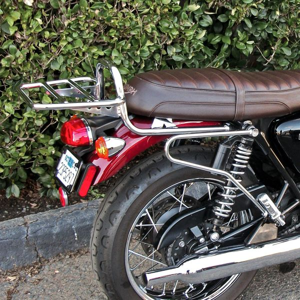 Touring Luggage Rack - BLACK or CHROME - Triumph (water-cooled) T100 / T120  / Street Twin / Street Cup