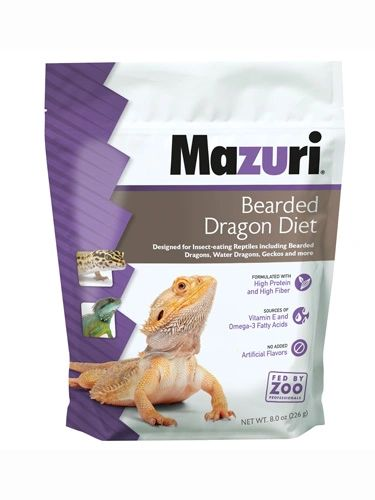 MAZURI DRY BEARDED DRAGON PELLETS 8 OZ. (APPROX 30 DAY SUPPLY)