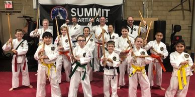 Escrima training at Summit Martial Arts