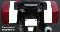 RK-214 Kawasaki Motorcycle Reflective Kit -- Fits the rear of the saddlebags on the Kawasaki Concours 14 (GTR1400) Sport Touring Motorcycle