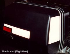 RK-211 Kawasaki Motorcycle Reflective Kit -- -- Fits the front and sides of the saddlebags on the original Kawasaki Concours 1000