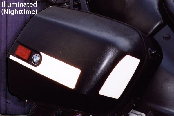 RK-5 BMW Motorcycle Reflective Kit: -- -- Fits the saddlebag lids on all the bikes that accept the RK-1, RK-2 and RK-3 Kits