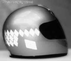 RK-24 Speed Diamond Helmet Reflective Kit: Fits Full-face, flip-up and open-face (3/4) helmets. Use in pre-cut speed diamond strips or customize your design.