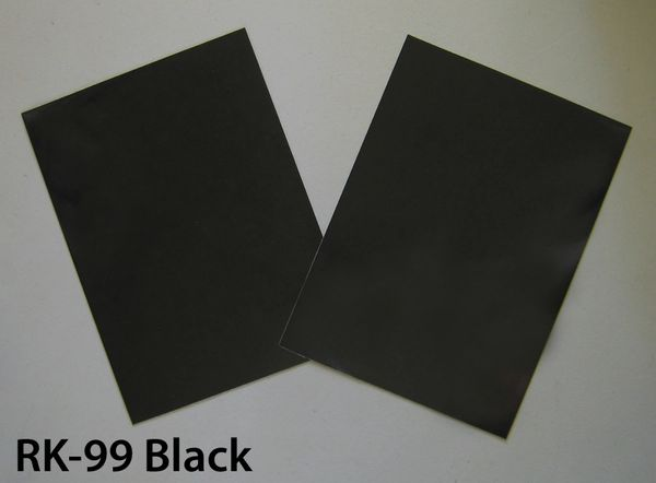 "RK-99B Do-It-Yourself Reflective Sheet Kit: Two 8""x11"" sheets of 3M Black reflective vinyl, shines back bright white at night.."
