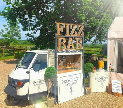 Our Prosecco Van decked out in its finery!