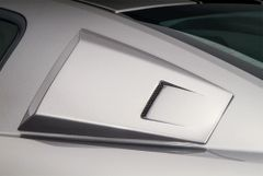 05-14 Mustang Eleanor Style Window Louvers with rear screened vent, Part # 4438, Unpainted