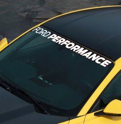 "2015 MUSTANG ""FORD PERFORMANCE"" WINDSHIELD BANNER/ M-1820-MB"