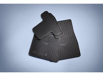 Floor Mats - All-Weather Thermoplastic Rubber, Black, 4-Piece/ FR3Z-6313300-BA