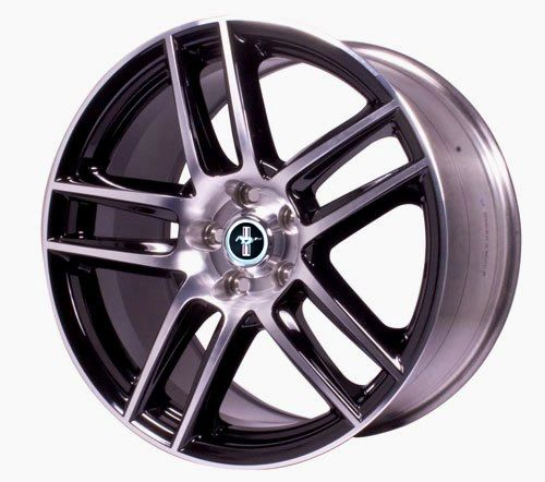 MUSTANG BOSS 302S REAR WHEEL BLACK WITH MACHINED FACE/ M-1007-DC1910LGB