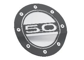 5.0 Comp Series Fuel Door - Black / Silver/ FR3Z-6640526-5B
