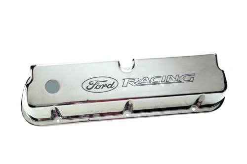 CHROME ALUMINUM VALVE COVERS, M-6582-LE302C