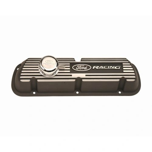 BLACK SATIN VALVE COVER, M-6582-A301R