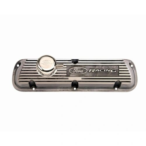 POLISHED ALUMINUM VALVE COVER, M-6582-A302R
