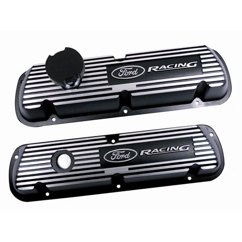BLACK SATIN TRUCK VALVE COVERS, M-6582-A351R