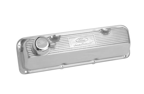 POLISHED ALUMINUM VALVE COVER, M-6582-A342R