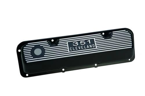 BLACK SATIN VALVE COVERS, M-6582-C351BK