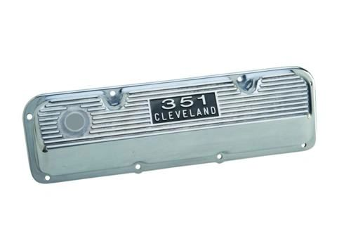 POLISHED ALUMINUM VALVE COVERS, M-6582-C351PD