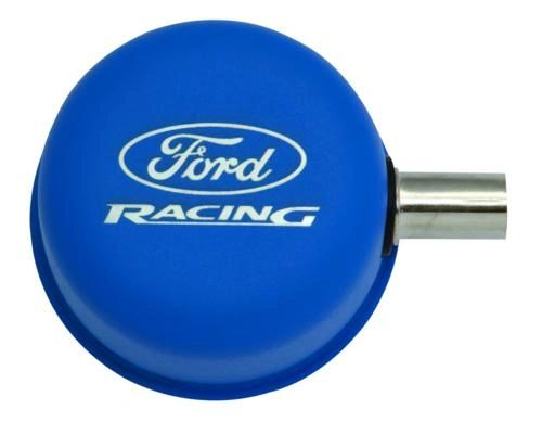 BLUE BREATHER CAP W/ FORD RACING LOGO, M-6766-FRVBL
