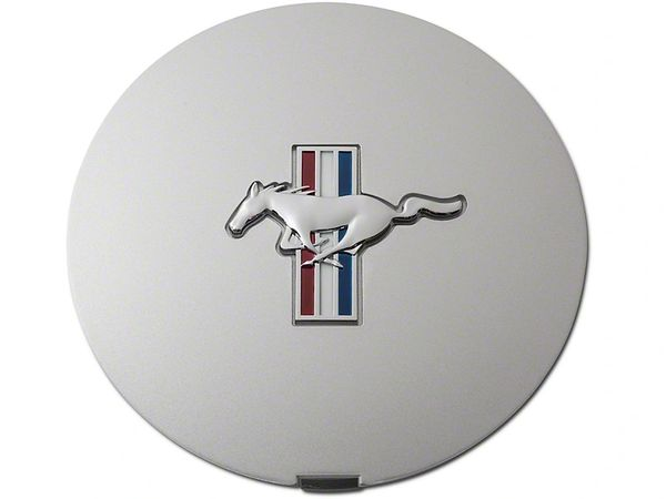 Pony Wheel Center Cap - Argent Silver w/ Tri-Bar Pony, F1ZZ-1130-S