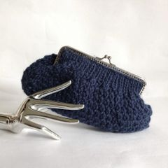 Lisbeth Dahl 100% Sheep Wool Chunky Knitted Clutch Bag Purse