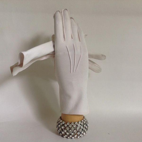 """Vintage 1950s Pale Pink Cotton 10"""" Evening Gloves Wedding Opera Church"""