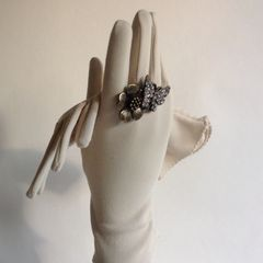 1960s Vintage Gloves Nylon Ivory Gloves Bridal Church Wedding Evening One Size