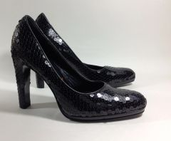 Miu Miu (Prada) Black Sequin Court Shoes Pumps Size UK 4.5 EU 37.5