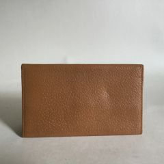 Vintage 1950s Gentleman's pig Skin Leather Note & Stamp Wallet In Tan