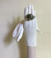 "Dents Vintage 1950s Ivory Bri Nylon 9.5"" Evening Gloves Wedding Church Size 6.5"