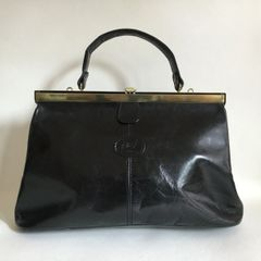 Carriage Black Pre Owned All Leather 1980s Vintage Handbag