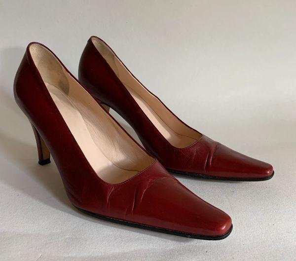 "Hobbs Oxblood All Leather Work Formal Court Shoe 3.25"" Slim Heel UK Size 4.5 EU 37.5"