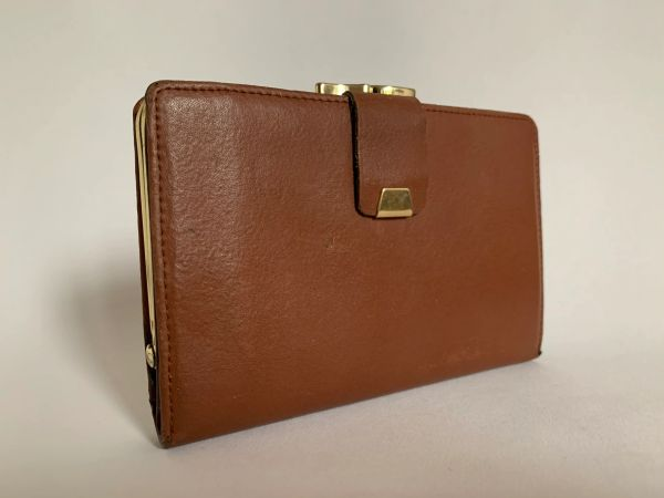 Harness of Lichfield Tan Leather 1970s Vintage Coin Purse Mini Wallet Tan Leather Lining.