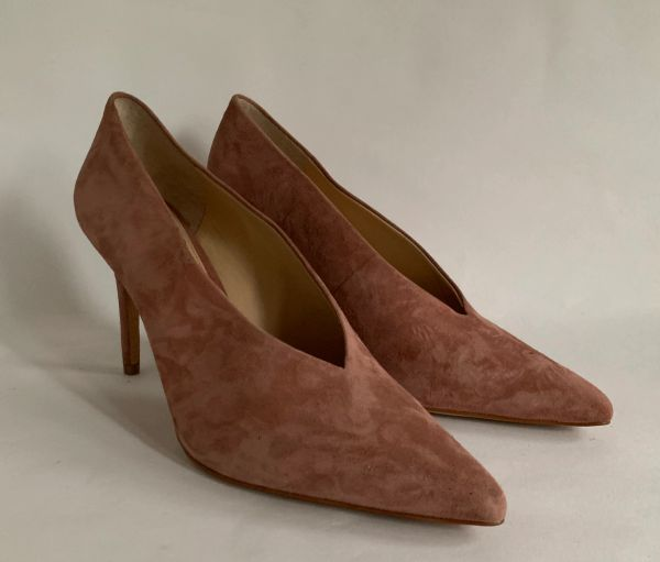 Vince Camuto - Ankia Dusky Pink Suede Pointed Stilletto Heel Court Shoes Size UK 7 EU 40