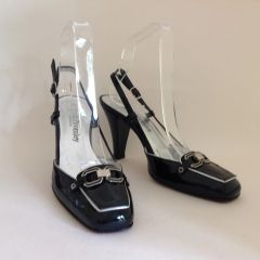 Russell & Bromley Black Patent Leather Sling Back Shoe!,UK 3.5 EU 36.5