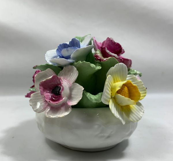 Vintage Aynsley Fine Bone China Hand Modelled & Painted Posy Bouquet Roses.