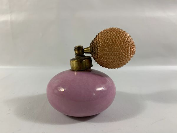 Pearlescent Pink Porcelain Perfume Atomiser With Peach Puffer Not Working