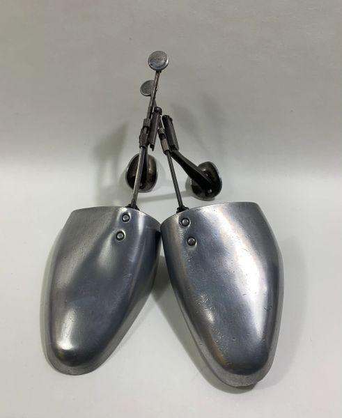 Vaughwill Vintage 1950s Aluminium & Steel Adjustable Shoe Trees Size 9-10.