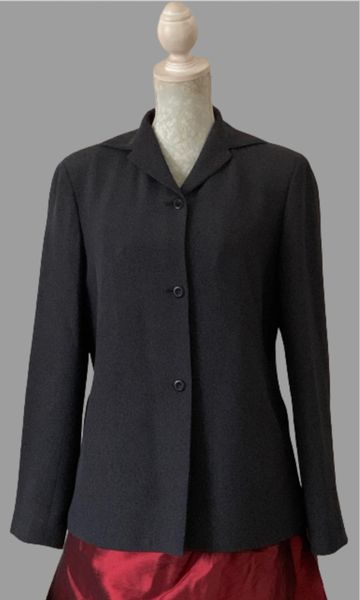 Episode Marl Grey Silk And Viscose Mix Loose Fit Lined Jacket Single Breasted Size 12