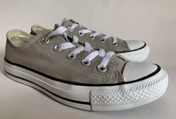 Converse Women's All Star Stone Grey Canvas Baseball Boots Low Rise Size UK 4 EU 36.5