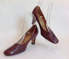 M Weintrop 71 Berwick Street W1 Vintage Tan Snake Skin Shoes Size UK 2.5