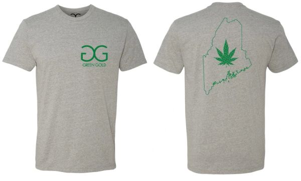 GG Green Gold Maine State T-shirt *Gray