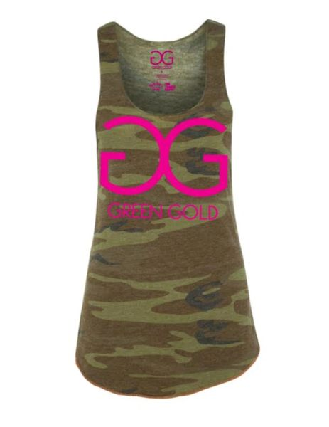 Women's GG Green Gold Tank Top *Camo