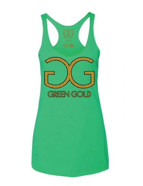Women's GG Green Gold Tank Top *Mint Green