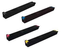 Sharp MX-45NTBA Black MX-45NTCA Cyan MX-45NTMA Magenta MX-45NTYA Yellow Compatible Toner Cartridge - US or EU