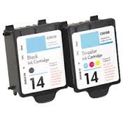 HP 14 C5011AN Black C5010AN Tri-Color Compatible Inkjet Cartridge