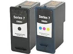 Dell 310-8373 330-0022 GR280 CH883 GR274 Black 310-8374 330-0023 330-0066 CH884 GR277 Tri-Color Series 7 Compatible Inkjet Cartridge