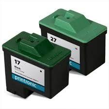 Lexmark 17 10N0217 Black 27 10N0227 Tri-Color Compatible Inkjet Cartridge