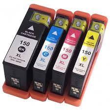 Lexmark 150 150XL 14N1607 14N1614 Black 14N1608 14N1615 Cyan 14N1609 14N1616 Magenta 14N1610 14N1618 Yellow Compatible Inkjet Cartridge
