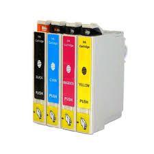 Epson 124 T124120 Black T124220 Cyan T124320 Magenta T124420 Yellow Compatible Inkjet Cartridge